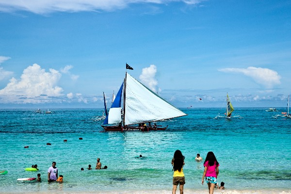 보라카이의 아름다운 해변