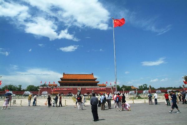 베이징(북경) 중심에 서있는 천안문 광장