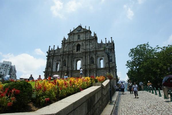 성 바울 성당의 유적&예수회 기념 광장