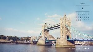 2015년 3월 바탕화면 달력-파리&런던