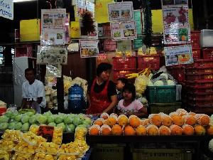 방콕, 서민들을 위한 끄렁떠이 시장(klong toey market)