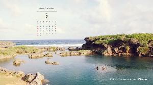 2015년 8월 바탕화면 달력-괌