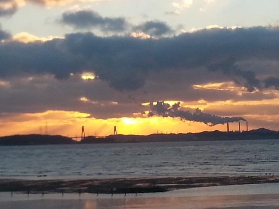 안산 시화호의 새해맞이 풍경