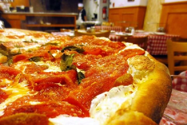 뉴욕 성당에서 먹는 그리말디 피자!