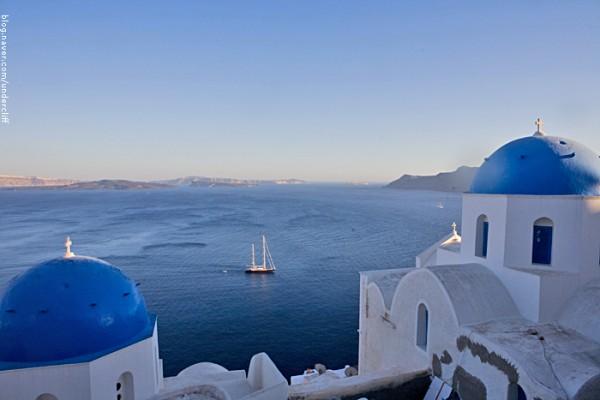 그리스 산토리니, 파란 지붕 아래 갈매기 카페(Seagull Cafe)!