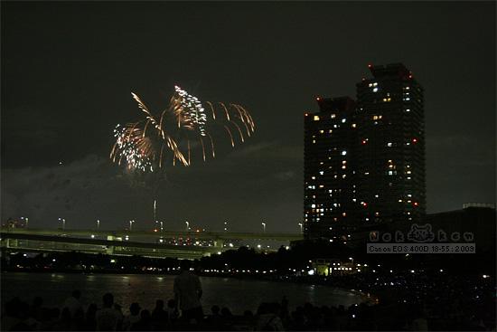 도쿄에서 가장 인기있는 데이트 코스, 오다이바 불꽃놀이!