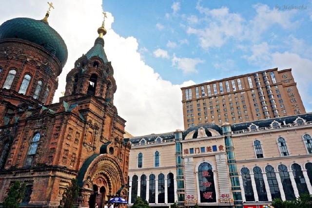 하얼빈, 유럽풍의 낭만적인 역사기행지 - 성소피아성당, 중앙대가