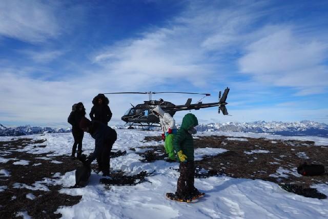 캐나다 로키 산맥에서 즐기는 헬리 스노슈잉