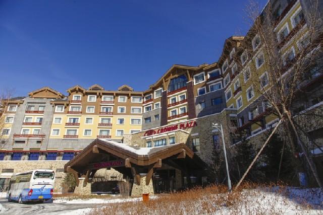 중국 연길 백두산 겨울여행, 장백산 크라운프라자 온천호텔