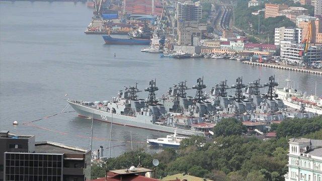 러시아 블라디보스톡 군함