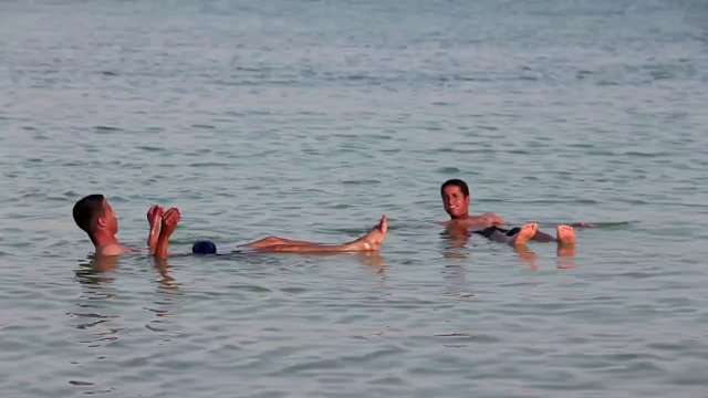 이스라엘, 사해, 수영