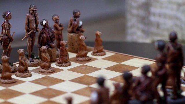 체스,남아공원주민,소품