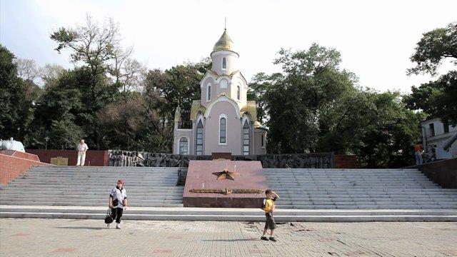 러시아 블라디보스톡 2차대전 전승기념비