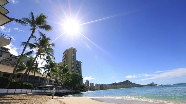 하와이의 태양