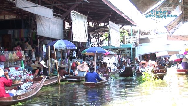 [태국] 현지인들의 생활을 볼 수있는 방콕 담넌사두억 수상시장