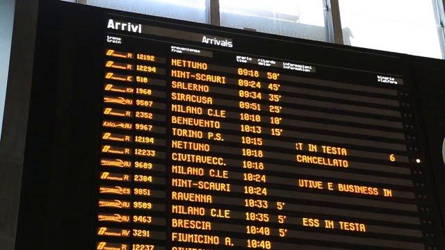 로마 테르미니역 시간표