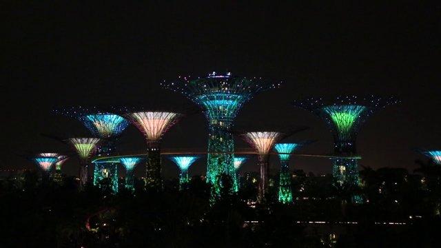 싱가포르 가든즈 바이 더 베이 야경