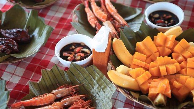필리핀 세부 과일과 해산물